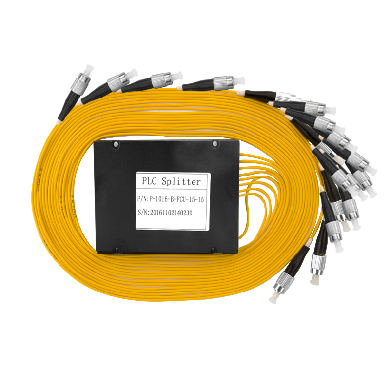FC UPC Optical Fiber 1X16 PLC Splitter