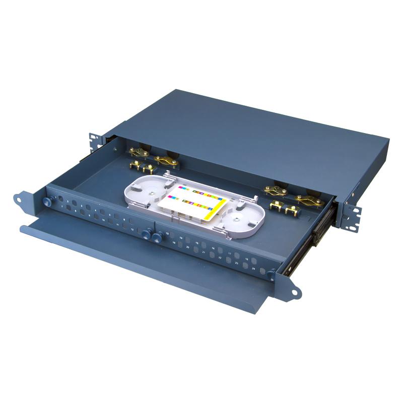 Sliding Type 24 Port FC ST Fiber Optic Patch Panel