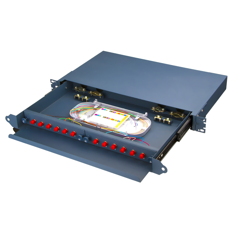 Fully Equipped 12 Port FC Fiber Optic Patch Panel