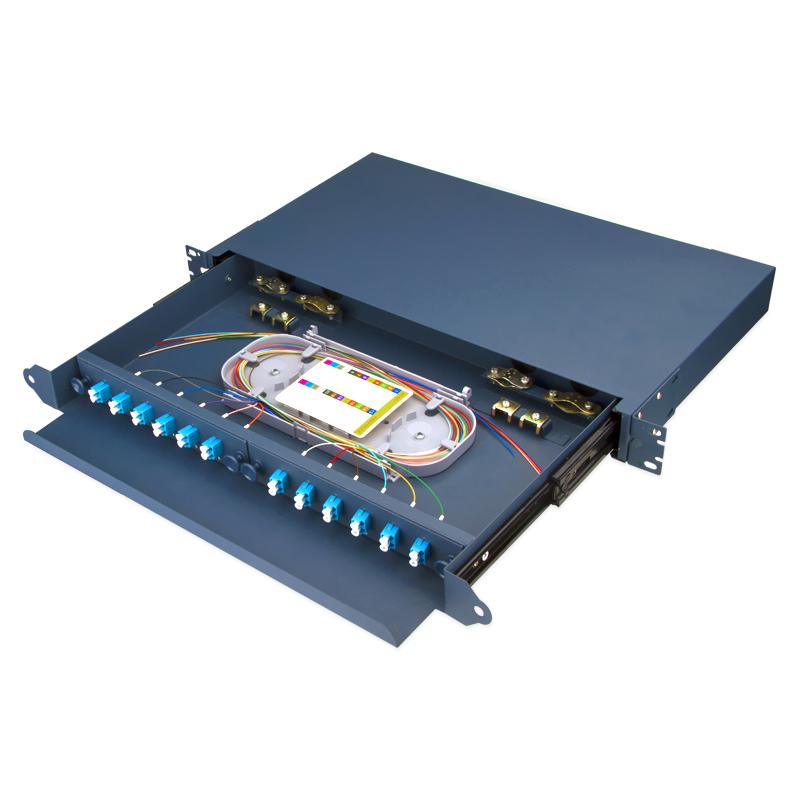 Sliding Type 12 Port LC Fiber Optic Patch Panel