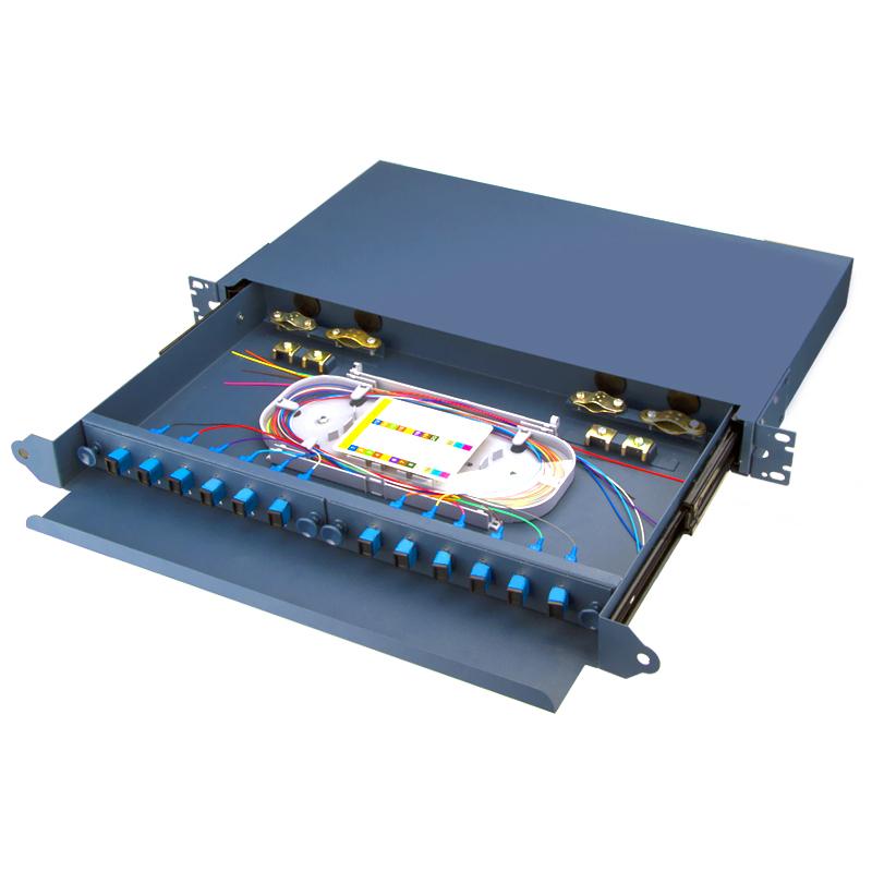 Sliding Type12 Port SC Fiber Optic Patch Panel