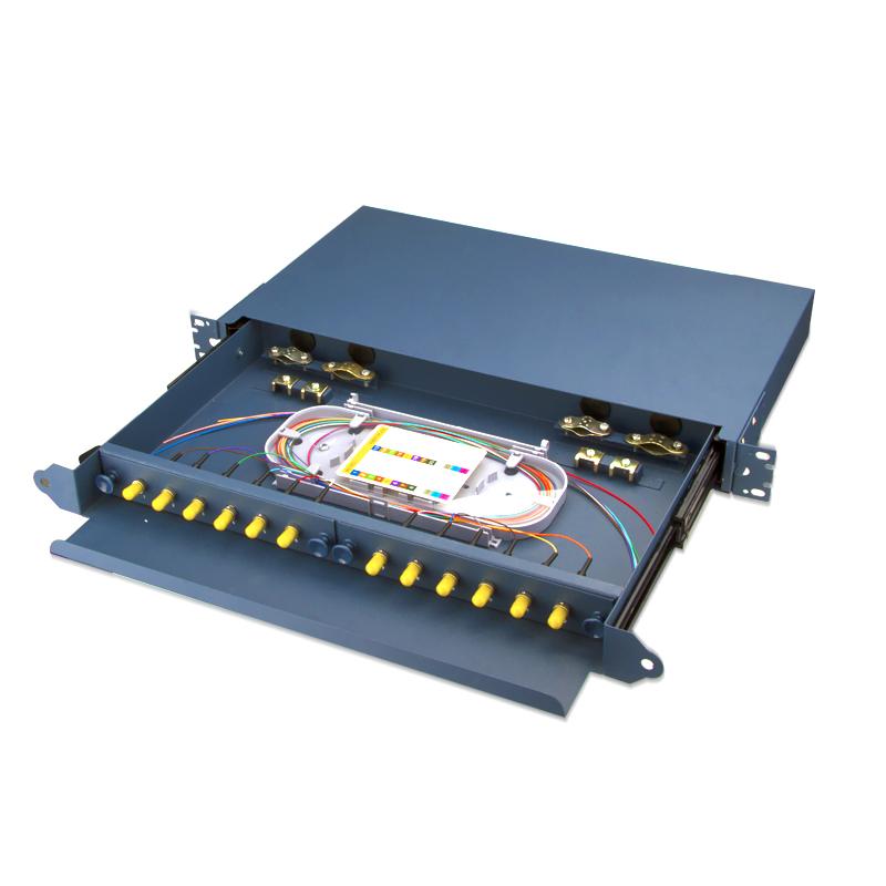 Sliding Type 12 Port ST Fiber Optic Patch Panel