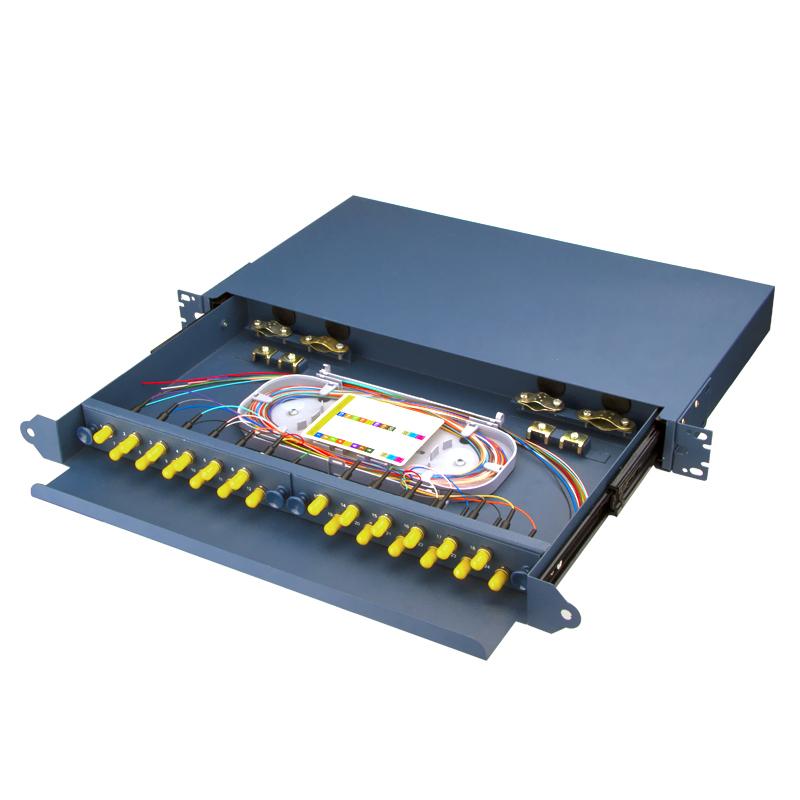 Sliding Type 24 Port ST Fiber Optic Patch Panel