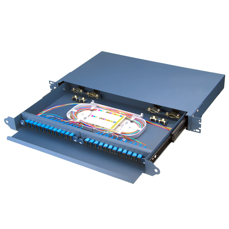 Sliding Type Fully Equipped 24 Port SC Fiber Optic Patch Panel