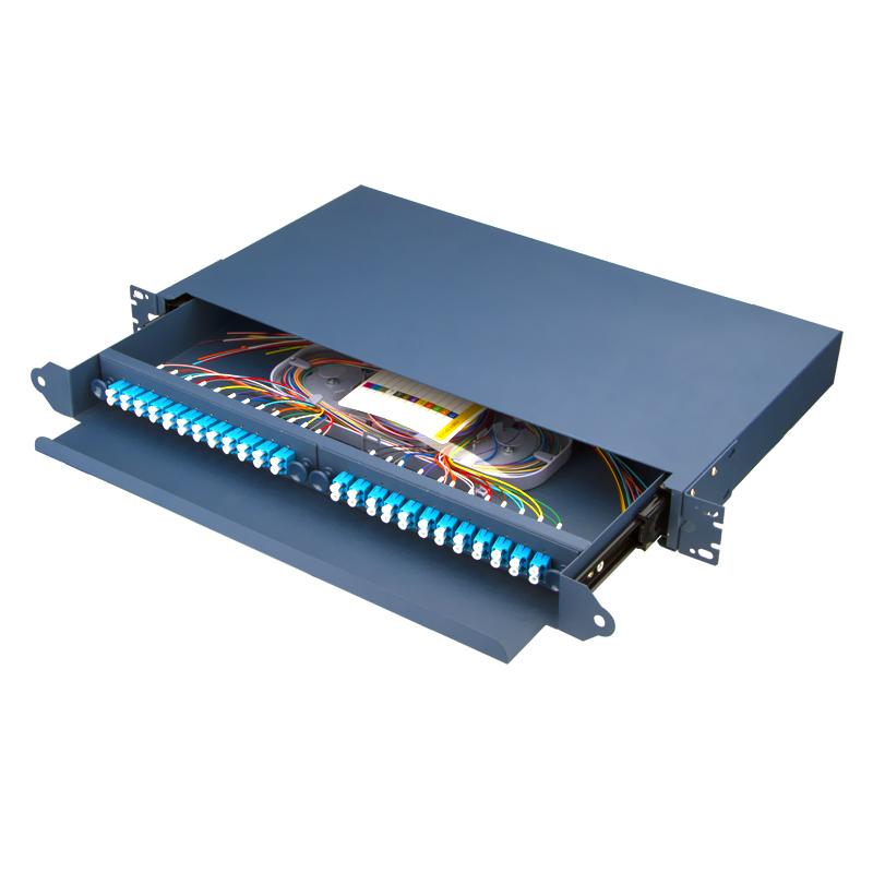 Sliding Type 48 Port LC Fiber Optic Patch Panel