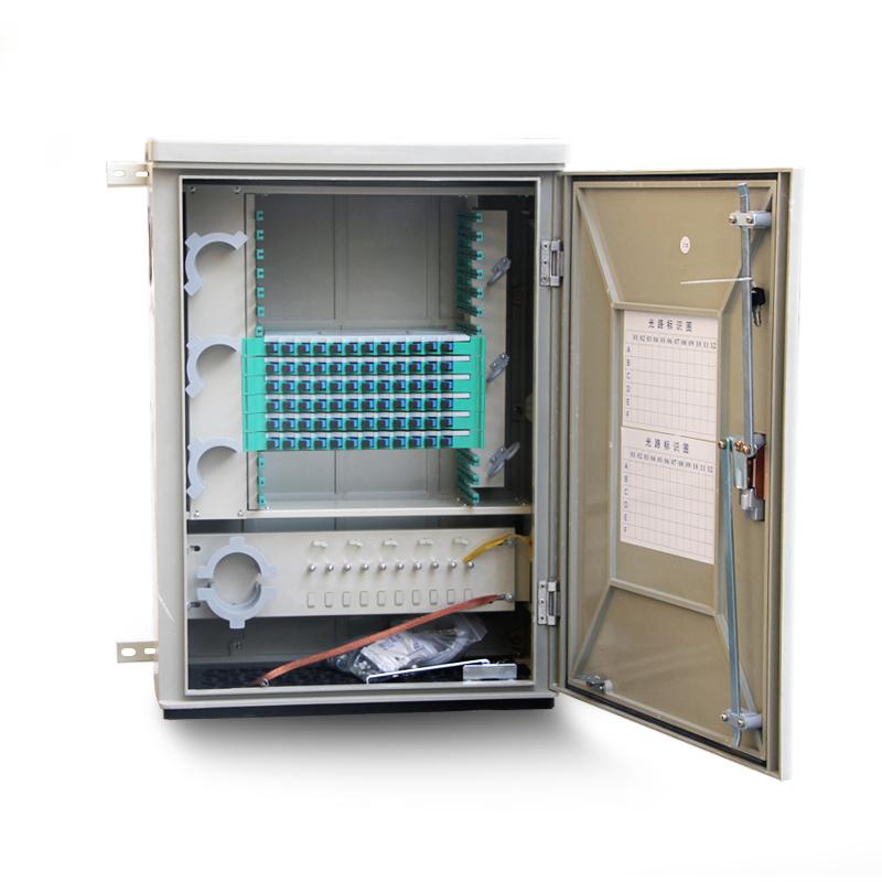 Wall-mounted 72 Core Fiber Optic Cross Cabinet
