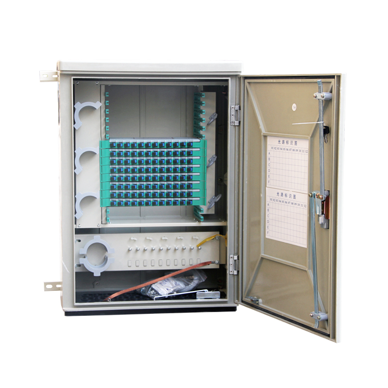 Wall-mounted 96 Core Fiber Optic Splice Outdoor Cabinet
