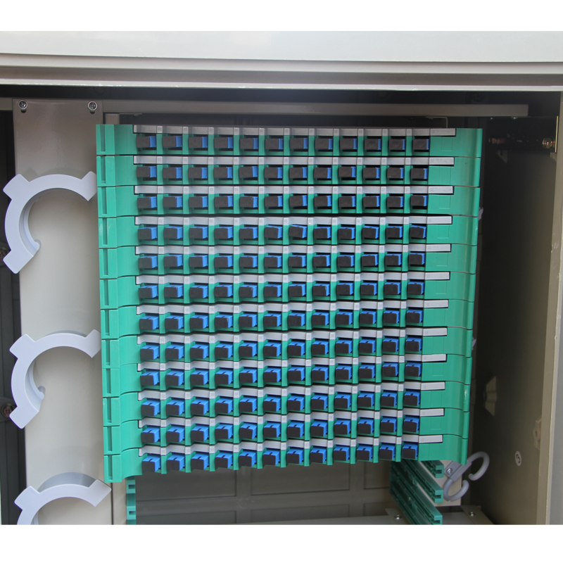 Wall-mounted 144 Core Fiber Optic Cross Connect Cabinet