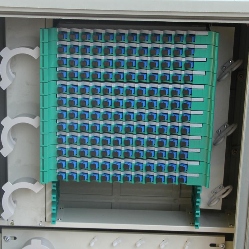 Floor-Standing 144 Core Optic Cross Connect Cabinet