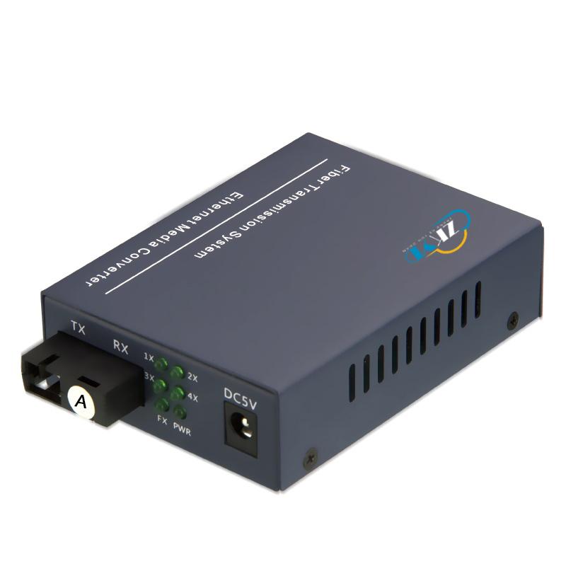 10/100/1000M 1 Fiber Port +4 RJ45 Port Fiber Optic Media Converter