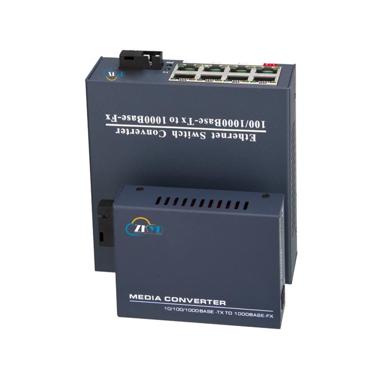10/100/1000M 1 Fiber Port +1/8RJ45 Port  Fiber Optical Media Converter