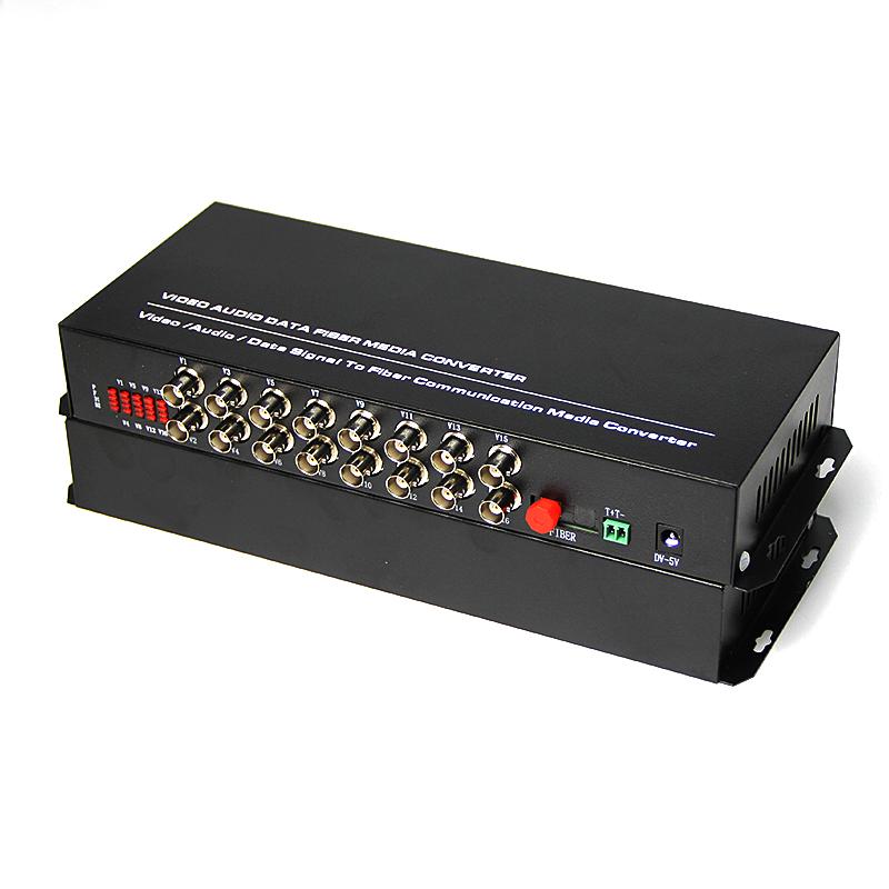 Desktop 16 Channel Digital Optical Fiber Video Converter