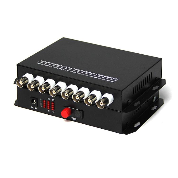 8 Channel AHD HD CVI Fiber Optic To BNC CVI Digital Video Converter