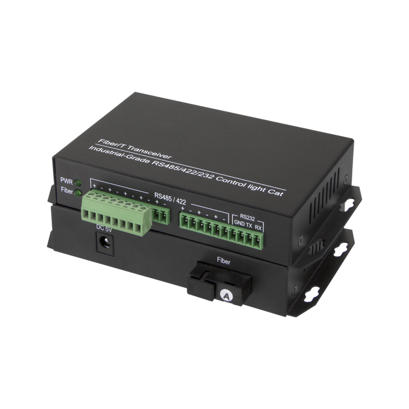 4 Channel Bidirectional Data RS485 To Fiber Optic Converter