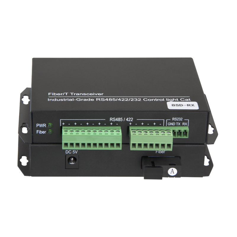 8 Channel RS485 Bidirectional Data to Fiber Optical Converter
