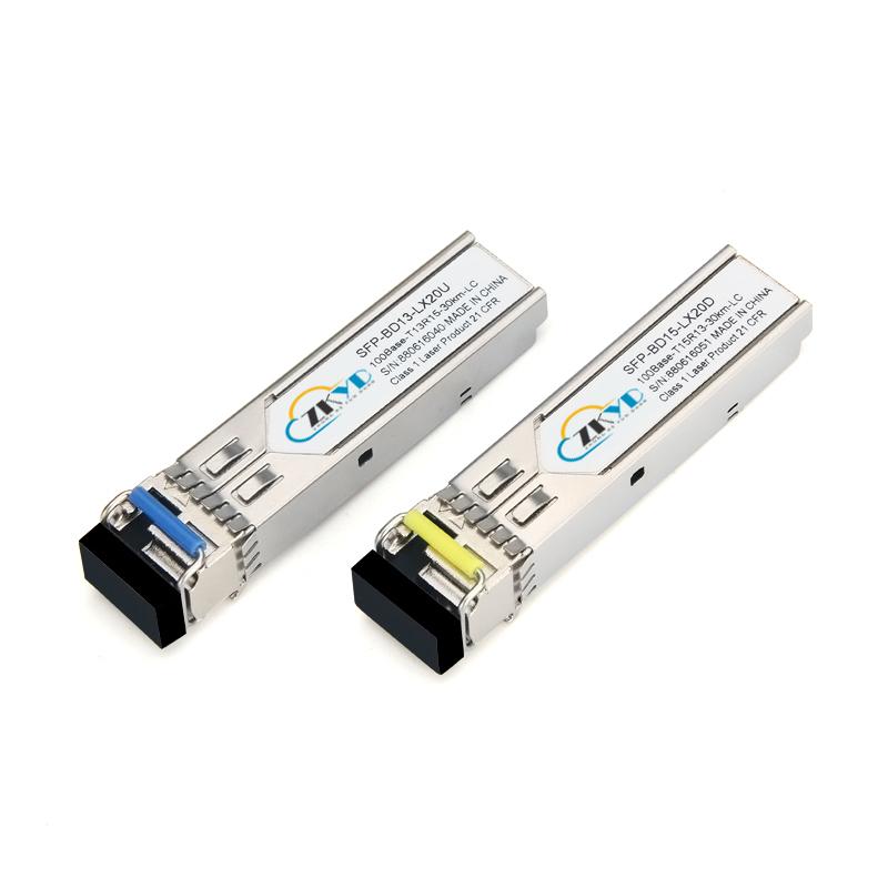 30KM 155M LC Connector Single Fiber SFP Module