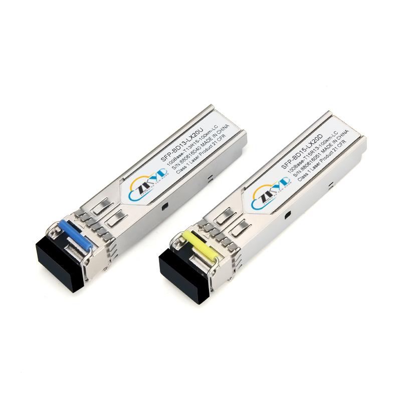 100KM 155M LC Connector Single Fiber SFP Module