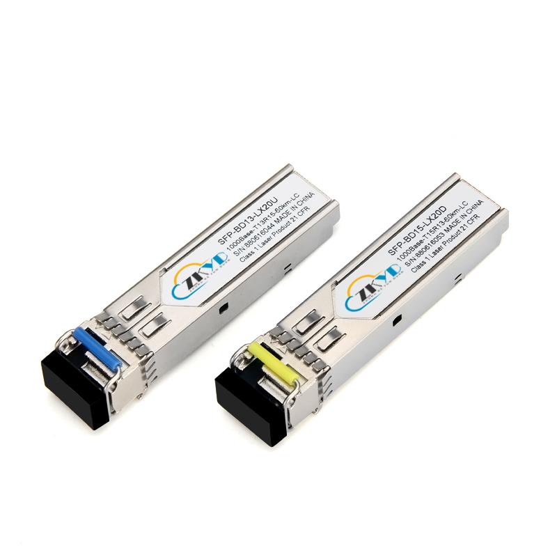 60KM 1000M LC Connector Single Fiber SFP Module