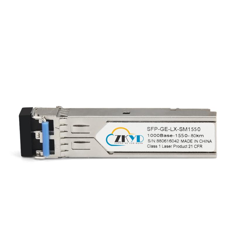 80KM 1.25G LC Connector Dual Fiber SFP Module